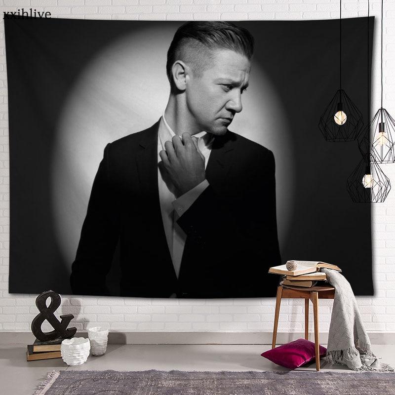 Знаменитый актер Реми Реннер гобелен настраиваемый богемный настенный комнатный ковер HD гобелены искусство аксессуары для украшения дома