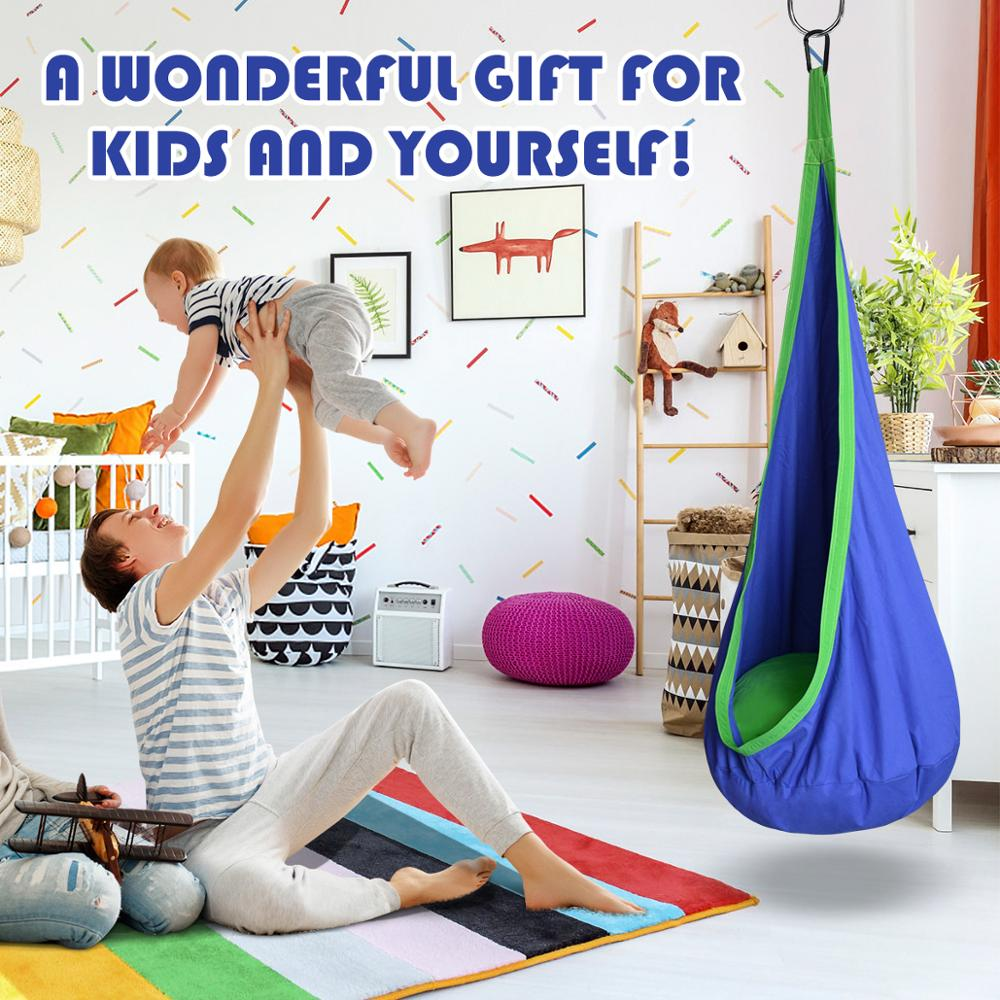ARRIES детский кокон, гамак, садовая мебель, качели, кресло для дома, на открытом воздухе, подвесное сиденье, детское кресло, патио, портативное