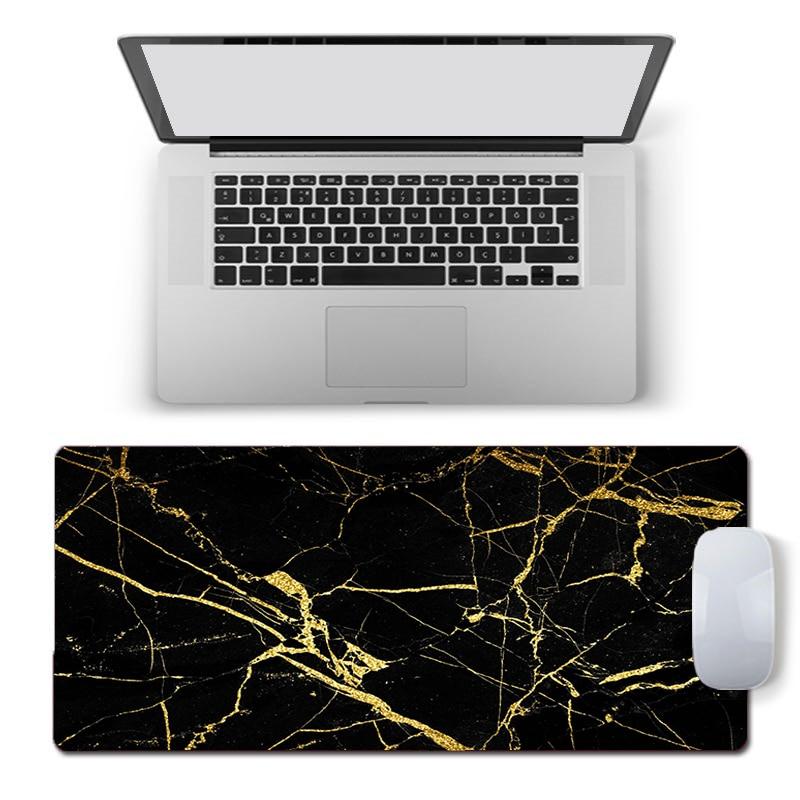 Luxury Marbling Large Mouse Pad Persian Carpet Laptop Pc Gamer Keyboard Mousepad Edge White Tassel Rubber Table Mat for Pet