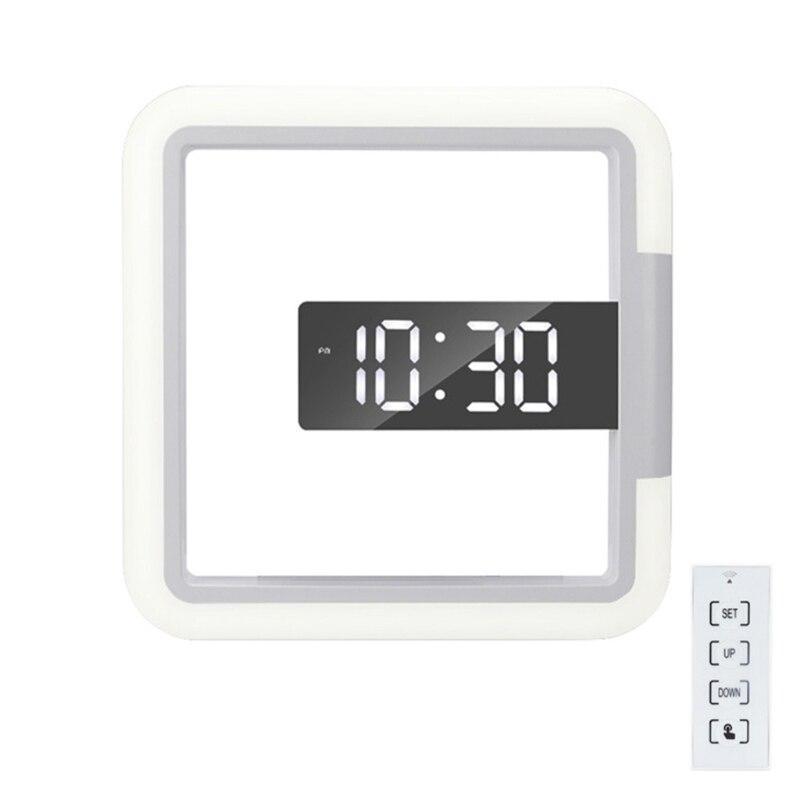 H7JB 7 ألوان ساعة حائط رقمية ثلاثية الأبعاد LED مرآة ساعة جوفاء ساعة الطاولة الحياة الإبداعية متوافق مع ديكور المنزل