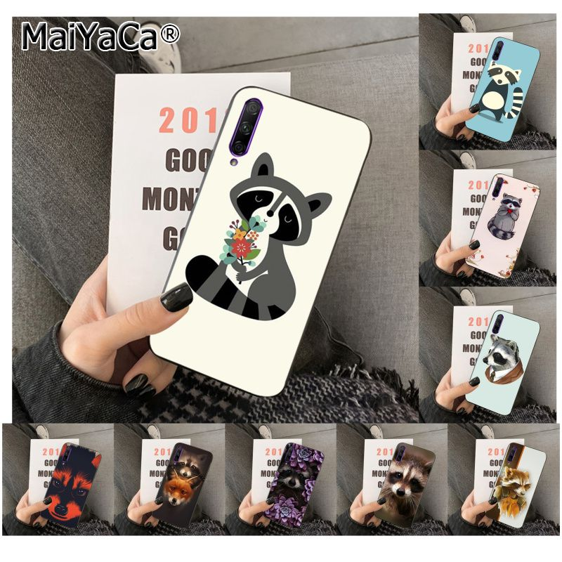 MaiYaCa Animal mapache arte colorido lindo teléfono caso para huawei 7S 7 PRO 9 6 Y5 PRIME 2018 Y7 9 5 6 PRO 2019