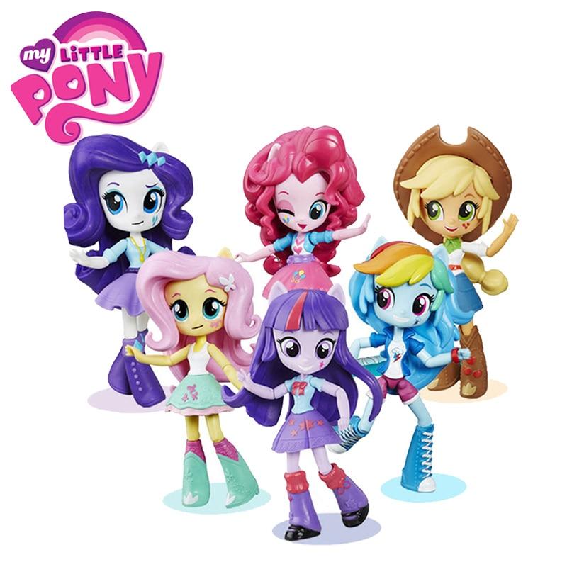 Mini muñeca ecuestre princesa My Little Pony, juguetes pinkie pie rainbow dash crepúsculo sparkle rareza niñas niños