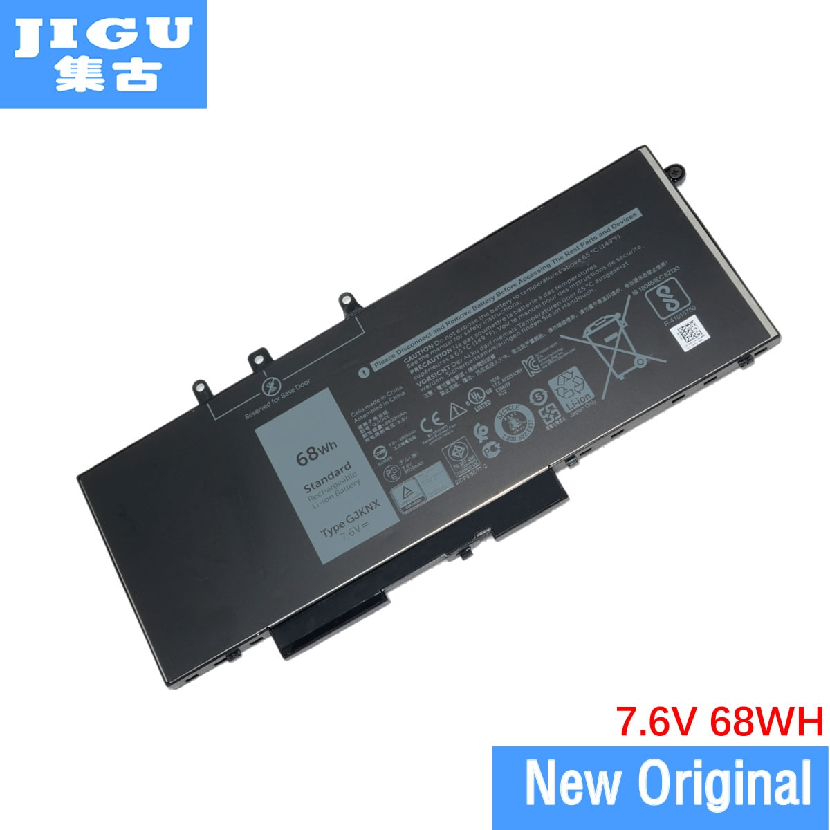 JIGU-بطارية كمبيوتر محمول أصلية ، GJKNX GD1JP ، لأجهزة Dell Latitude 5480 5490 5491 5580 E5280 E5580 7.6V 68WH