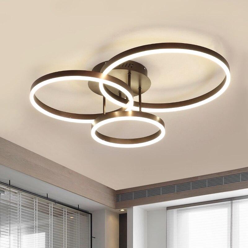 Simples e moderno sala de estar quarto corredor anel lâmpada do teto nordic design minimalista linear conduziu a lâmpada decorativa
