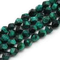 natural diamond faceted green tiger eye stone round beads for jewelry making diy bracelet necklace charms 15 strand 6 8 10mm