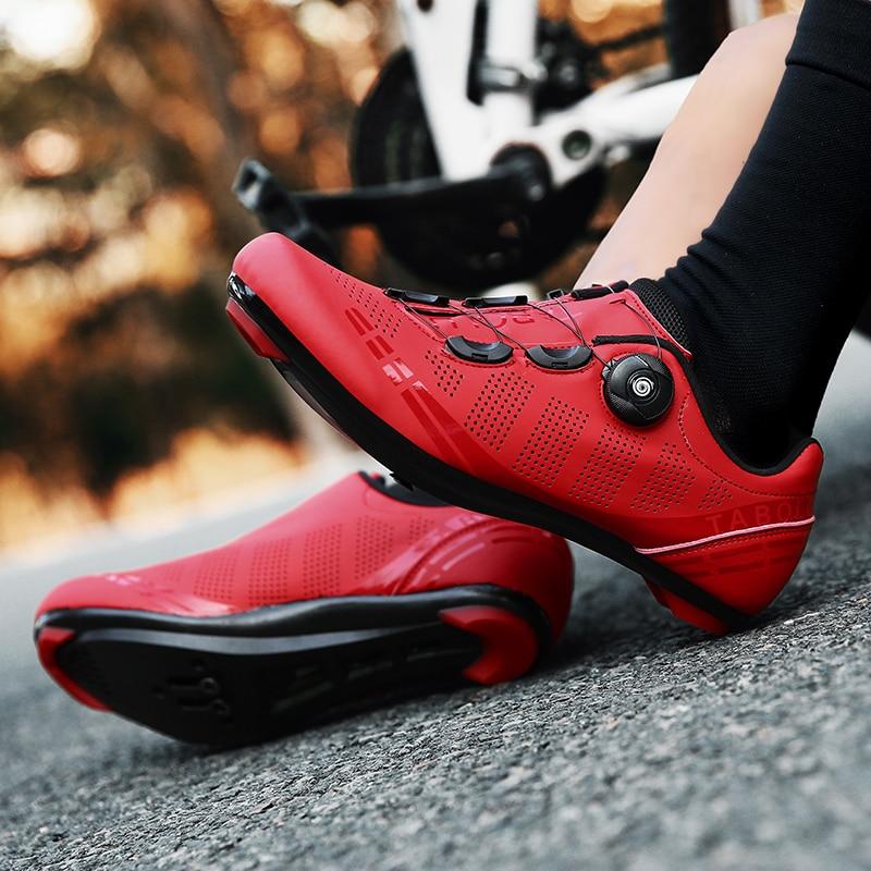 Cleat Flat Road Bike shoe Dirt Men Women Sport Cycling Trainer Fitness Spinning Cyclist Sneaker Men Sport SPD Triathlon Footwear