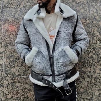 2021 Autumn Winter New Leather Jacket Solid Color Fashion Casual Plus Velvet Thicken Warm Zipper Belt Buckle PU Mens Jacket