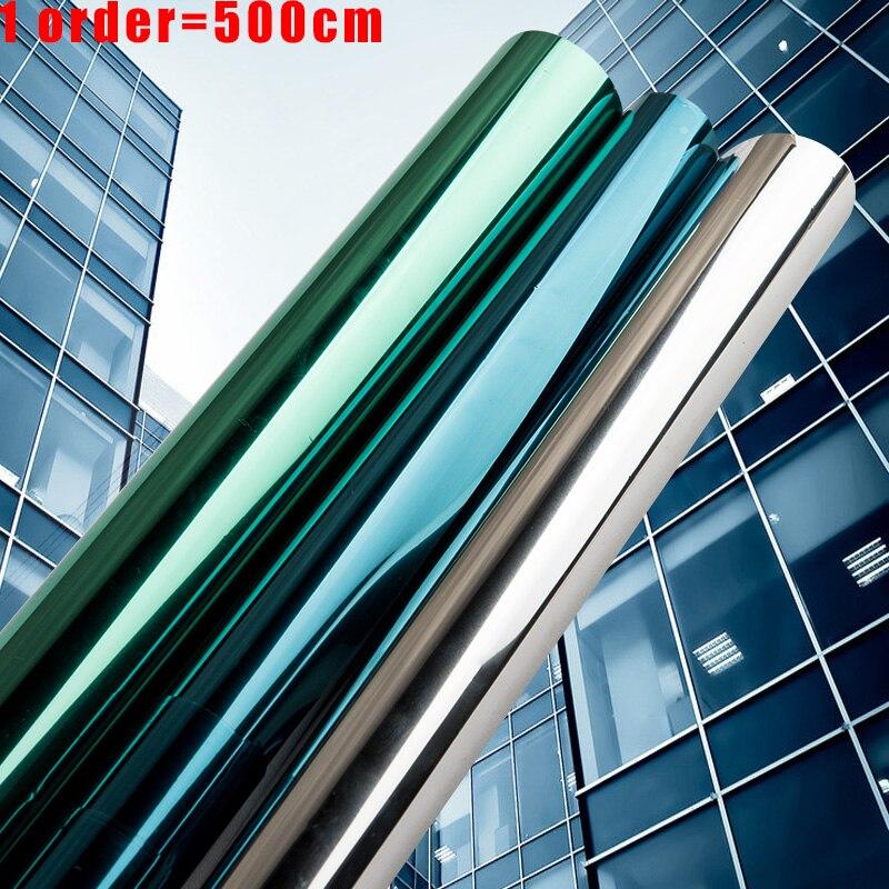 Multi-Breite 2/3/5M Spiegel Isolierung Solar Tönung Fenster Film Aufkleber UV Reflektierende Eine Möglichkeit privatsphäre Dekoration Für Glas