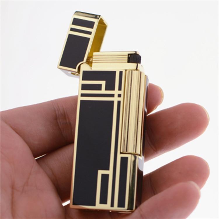 Mechero de lujo Ping con sonido a Gas, mechero inflable para cigarrillos, ruedas de afilar rellenables, encendedor de fuego, el mejor regalo