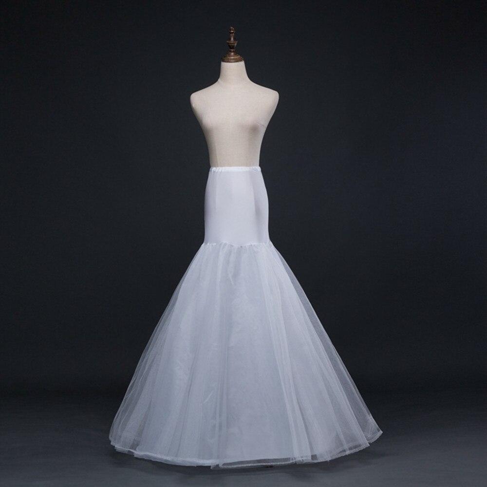 Enagua larga de sirena blanca HONGFUYU para vestido de boda enagua Tul Blanco miriñaque de novia enaguas