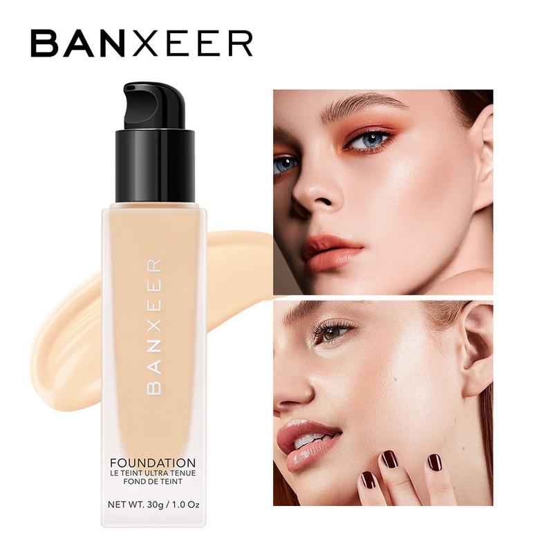 BANXEER Essence Liquid Foundation Full Coverage Face Makeup Base Waterproof Moisturizing For Women S