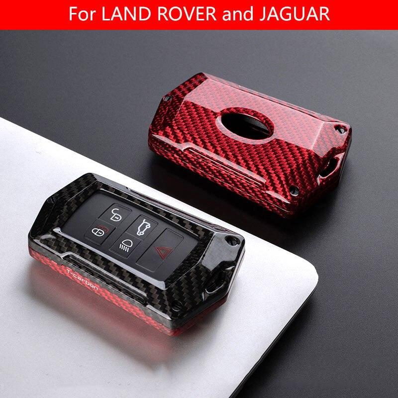 Новый чехол из углеродного волокна для автомобильного ключа Smart Remote Cover for Land Rover RANGE ROVER Freelander 2 DISCOVERY Evoque Jaguar XE XJ XJL