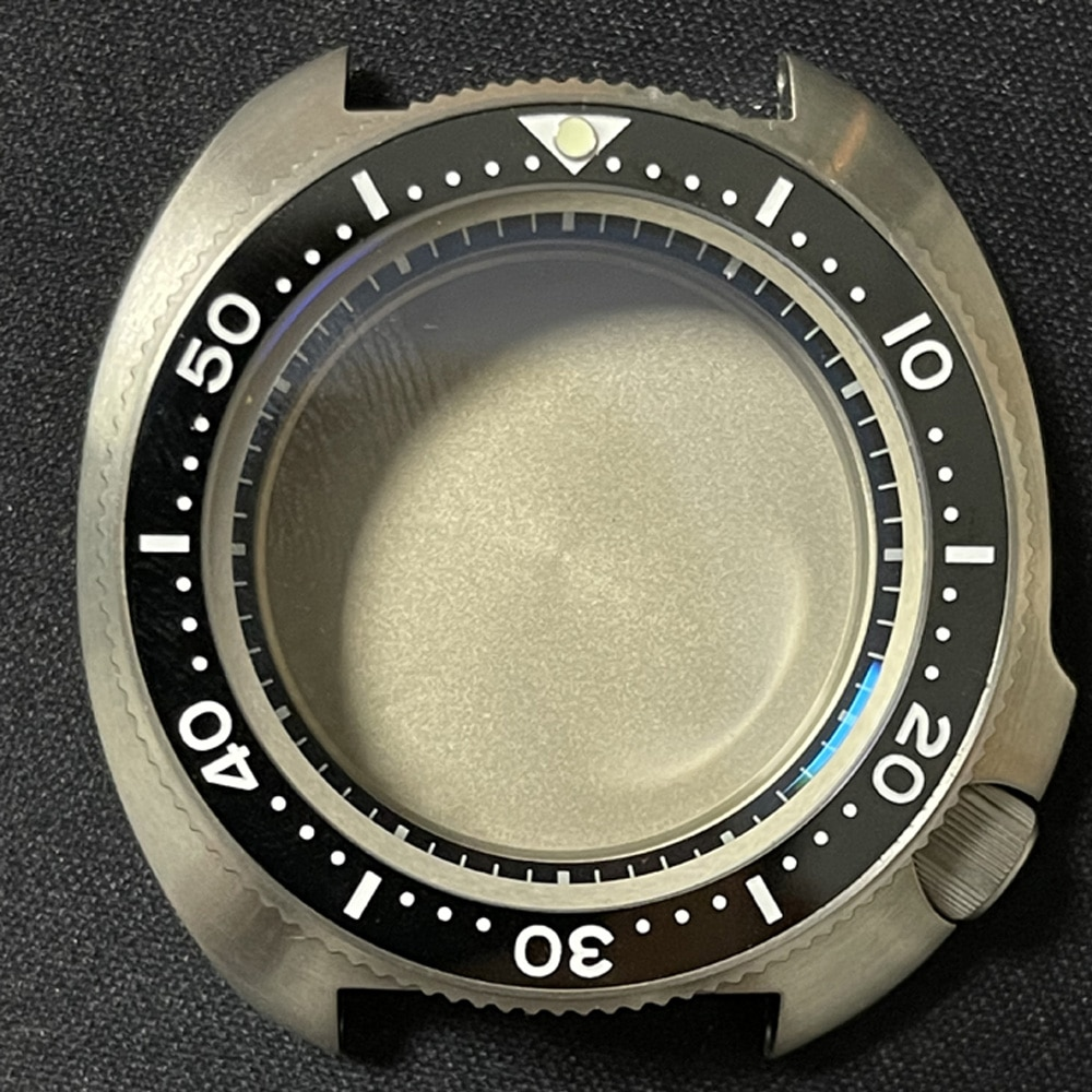 Watch Modify Parts High Quality Titanium Turtle 6105 Case Sapphire Ceramic Bezel Watch Case Fit NH35/36 Automatic Movement