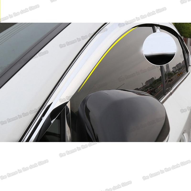 Lsrtw2017 para Lexus Rx RX300 RX200t, 450h, Nx, NX200, NX300, NX300h, protector contra la lluvia para ventanas de coche, adornos Abs para Lexus, accesorios