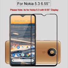 Full Glue Cover High Aluminum Tempered Glass For Nokia 5.3 Screen Protector Protective Film On Nokia