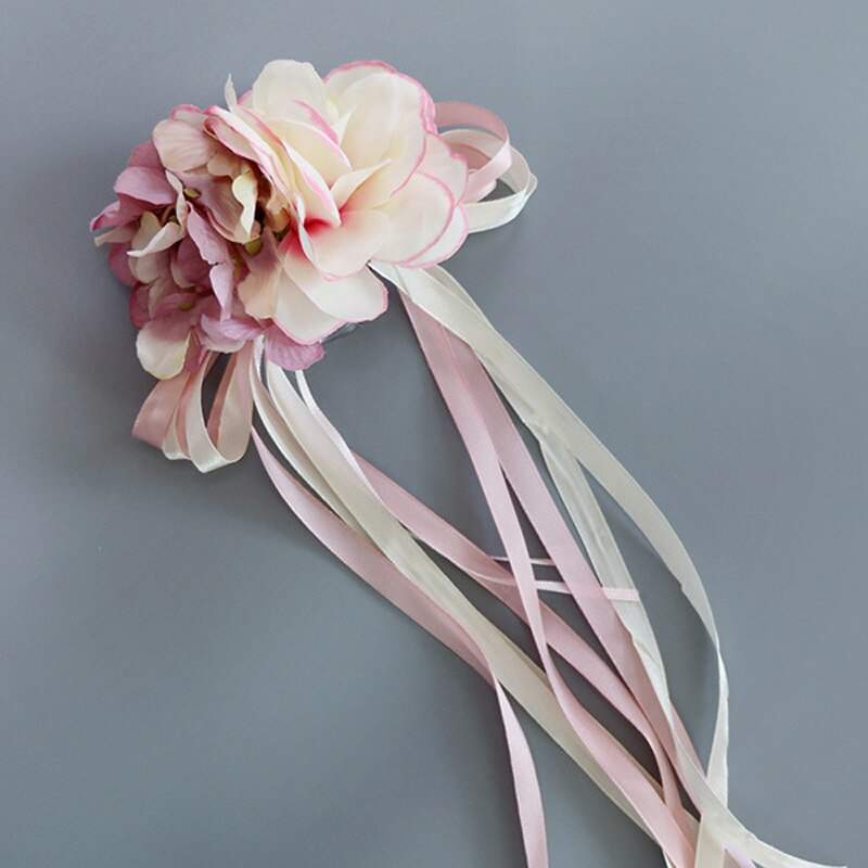 Cinta de seda flor para boda o fiesta, flores artificiales para novia, espejo para coche, decoración para puerta TUE88