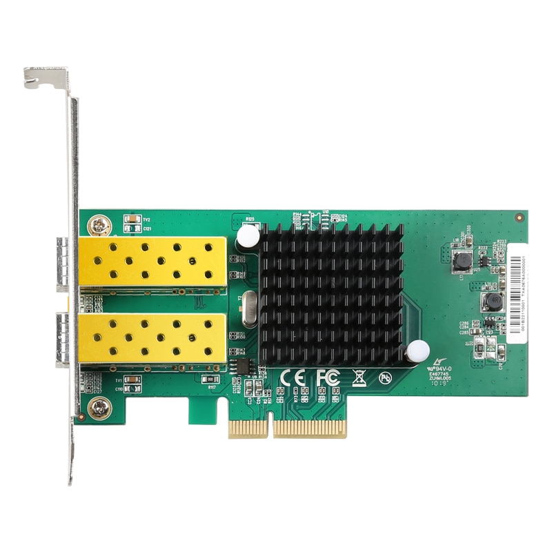 PPYY новый-2 порта PCI-E 4X гигабитная сетевая карта RJ45 Порты Lan интерфейсная карта с для Intel 82576 10/100/1000 Мбит/с