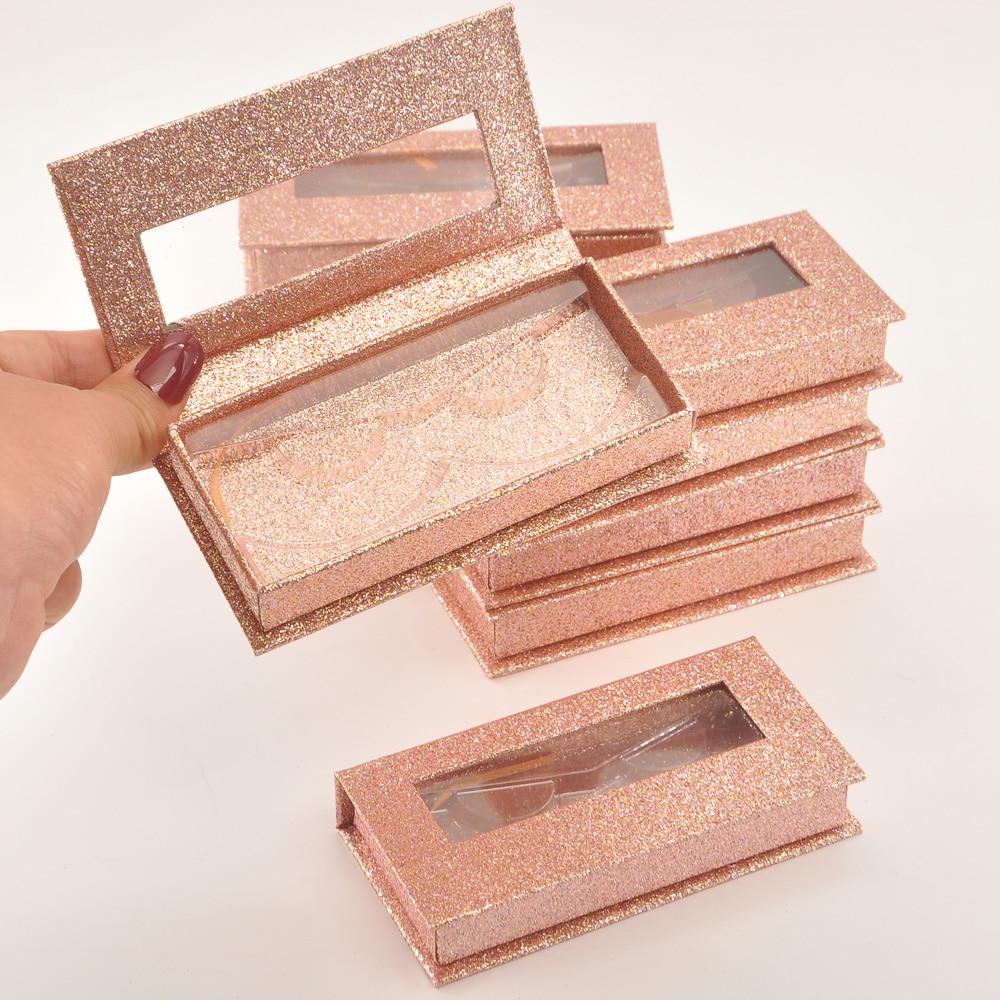 Caixa de Embalagem de Cílios Caixas de Chicote Case de Etiqueta Pacote Logotipo Personalizado Magnético Rosa Ouro 25mm Cílios Postiços Maquiagem Privada Fornecedor