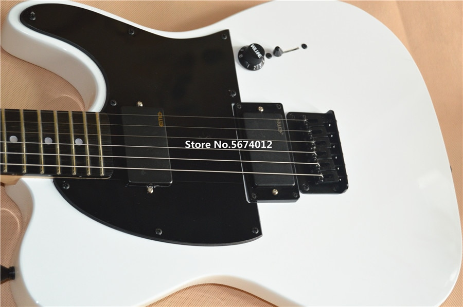 Hot Sale tele guitar flat white AS  signature  guitar locking knobs rosewood fingerboard high quality Factory direct enlarge