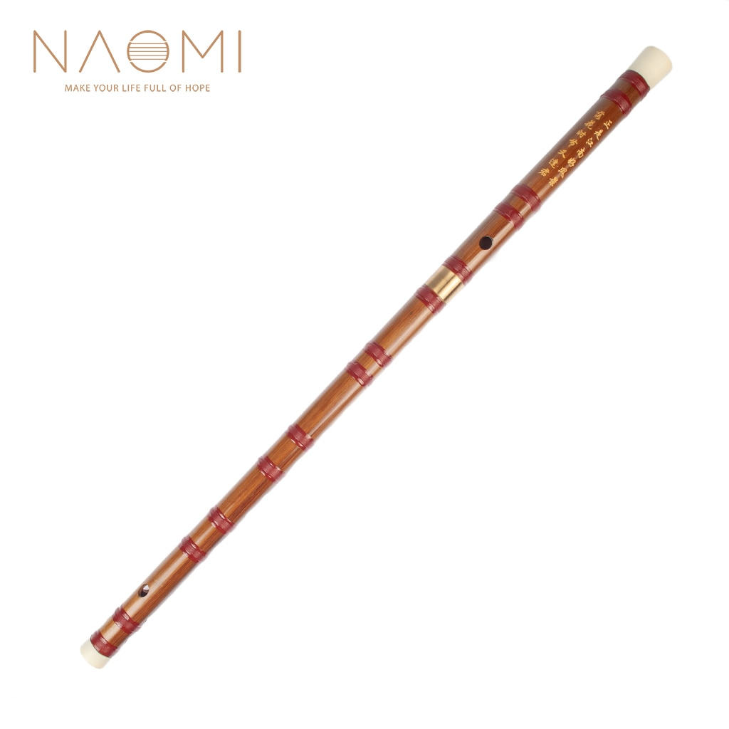NAOMI Bamboo Flute Dizi Traditional Handmade Chinese Musical Instrument Key Of D W/ Nylon Vintage Dizi Protect Bag musical instrument flute clarinet bamboo wooden chinese 6 holes student traditional color vertical 2020