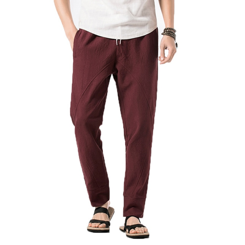 Pantalones Harem hombres Jogger marca Casual pantalones hombres moda Pantalones Hombre Harajuku pantalones 5XL 2019 verano ropa china tradicional