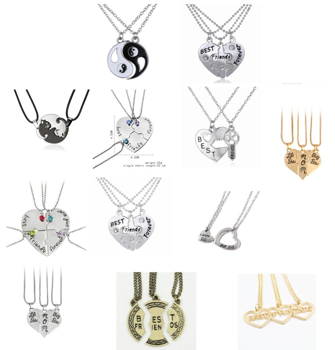 """1 conjunto de estilo criativo amizade jóias moda colares coração quebrado partes 2 """"melhores cadelas"""" colares & pingentes melhor amigo"""