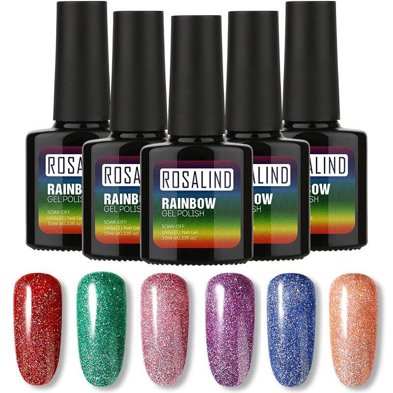 ROSALIND Gel esmalte de uñas 10ml Arco Iris Neon RBR01-29 laca de Gel UV Soak Off Nail Art barniz de Gel de larga duración para el arte de uñas