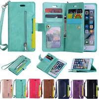 Чехол-кошелек с откидной крышкой для AIPhone 11 Pro X XS XR MAX 6 S 7 8 Plus 5 5S SE2020 12 мини-держатель для карт кошелек на молнии задняя крышка для телефона