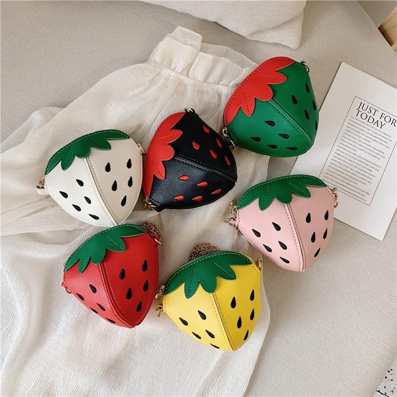 Bolso pequeño para niños, Bolso pequeño bonito para chicas, bolso de fruta divertida, bolso bonito de Color caramelo para niños