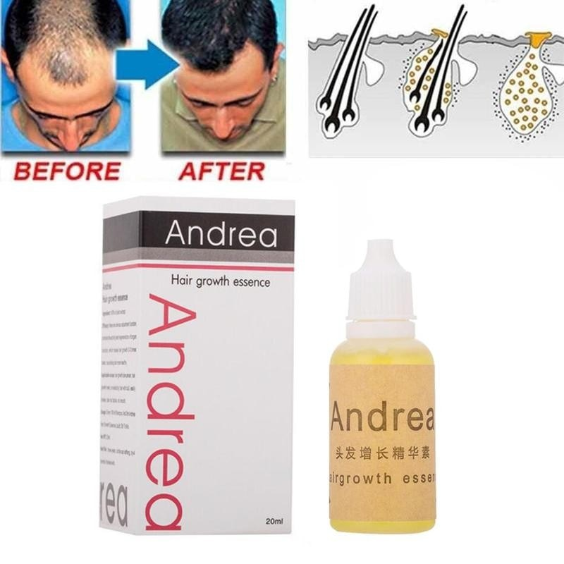 Andrea Hair Growth Oil Essence 100% Natural Plant Extract Growth Serum Thickener Hair Hair Care Loss