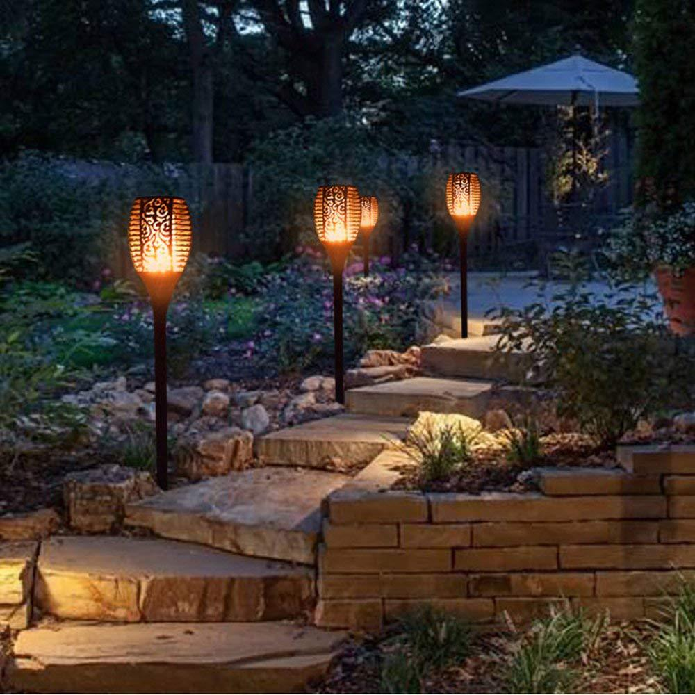 Solar LED Light Outdoor Waterproof Romantic Flicker Effect Torch Lights Indoor LED Fire Light Outdoor Lawn Garden Decoration