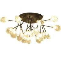 Nordic Bedroom Lamp Modern Living Room Firefly Ceiling Lamp Restaurant Iron Art Individual Creativity Simple Study Light