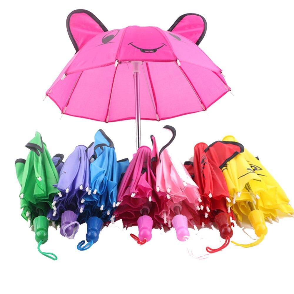 Милые Красочные Зонты LUCKDOLL, подходят для 18-дюймовых фотоигрушек для девочек, поколение, подарок на день рождения