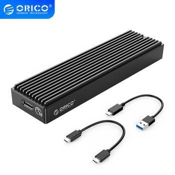ORICO-boîtier LSDT M.2 NVME, USB C Gen2, 10gbps, PCIe boîtier SSD M2 SATA NGFF, 5gbps, boîtier SSD, outil gratuit pour SSD 2230/2242/2260/2280