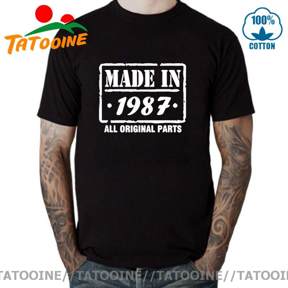 Camiseta Tatooine hecha en 1987 para hombre, camiseta divertida nacida en 1987,...