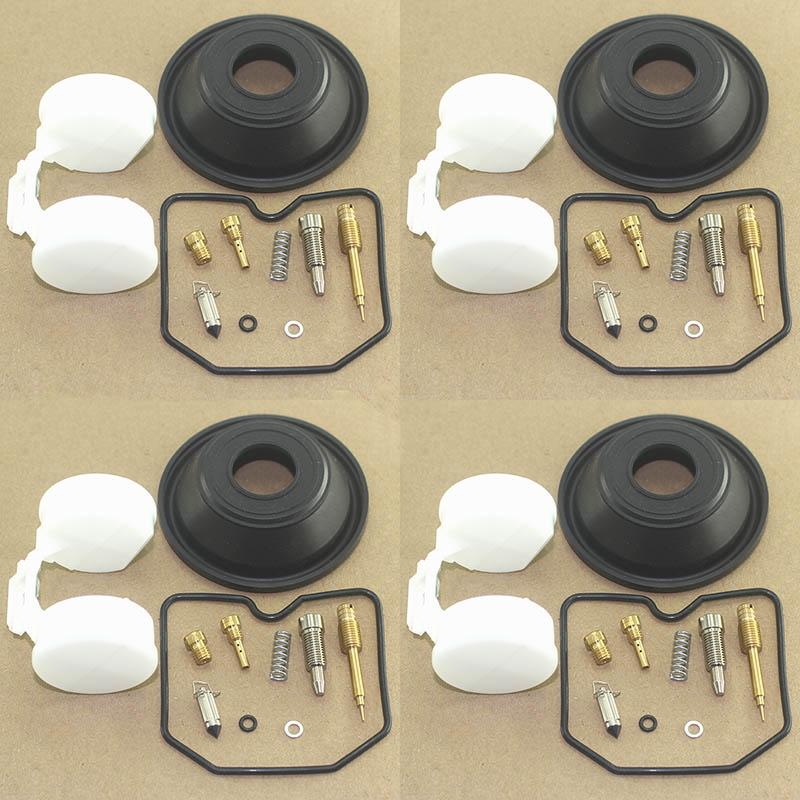 Juego de 4 piezas de reparación de carburador de motocicleta para GPz1100 ZX1100 1995-1997 ZX GPZ 1100 diafragma de émbolo flotador de goma
