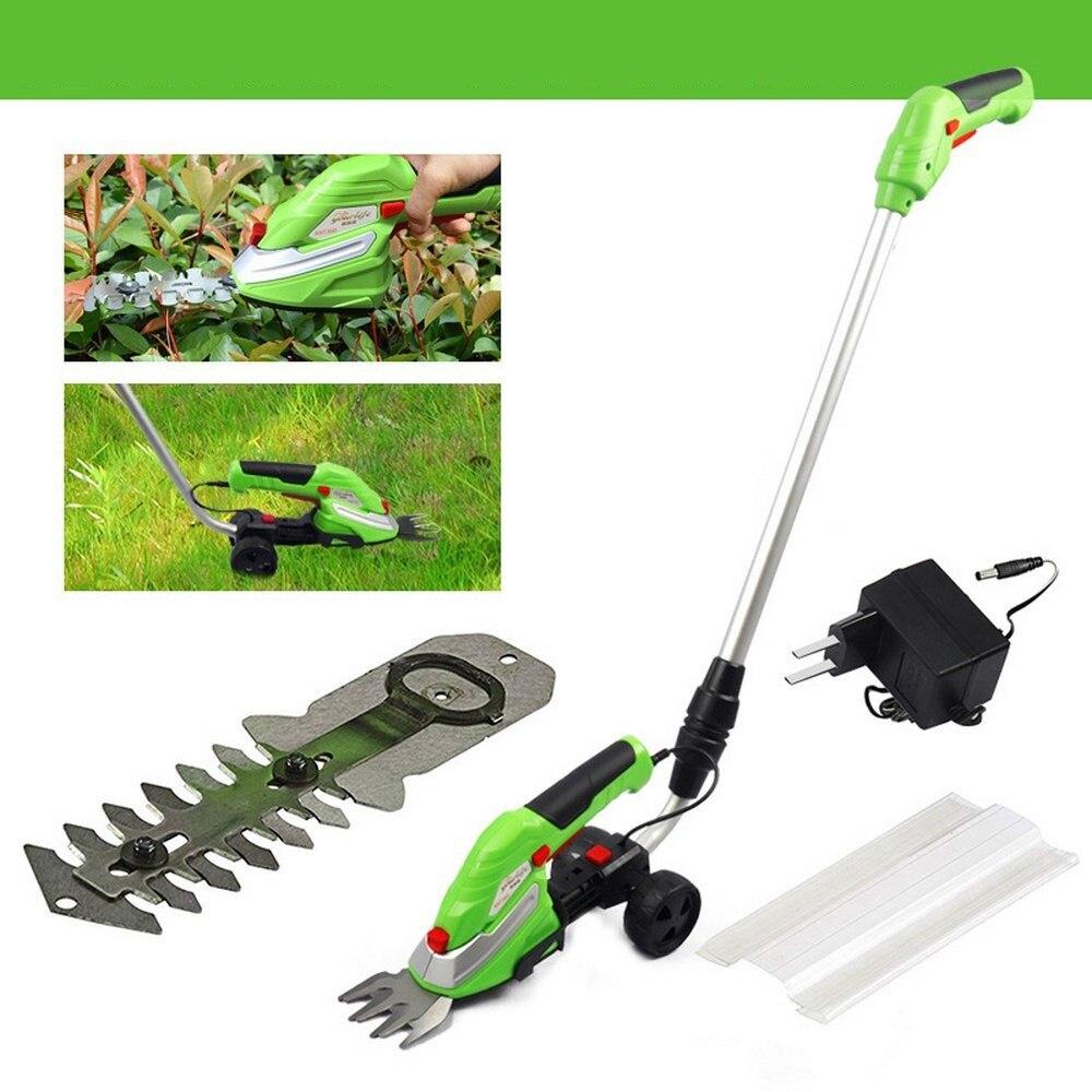 Césped eléctrica cortadora de hierba sin hierba de la máquina de corte de hierba cadena Extensible Barra de poda de jardín herramientas de desbarbado