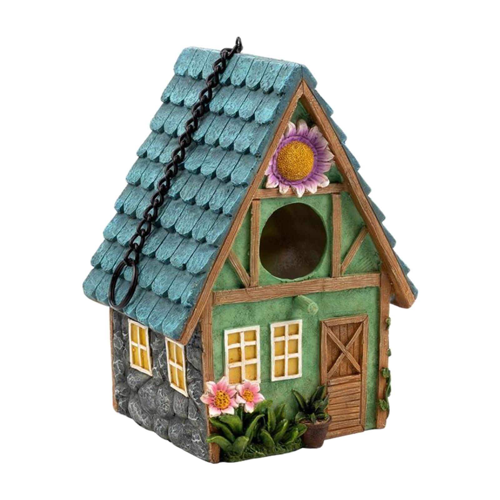 Pintados à Mão Casa para Pequenos Colorido Birdhouse País Pássaro Pássaros Ing