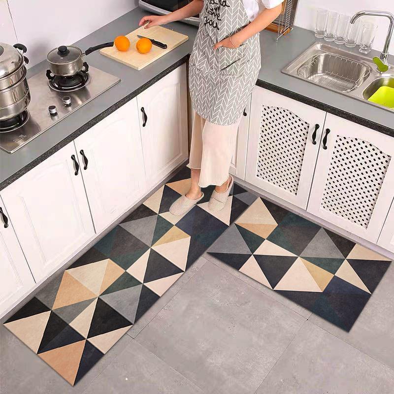 Anti-slip Kitchen Mat for Floor Modern Bath Carpet Entrance Doormat Tapete Fashion Absorbent Area Rugs Living Bedroom Prayer Pad