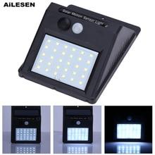 Светодиодный светильник AiLESEN с датчиком движения, солнечный светильник на открытом воздухе, декоративный забор для сада, лестницы, коридора...