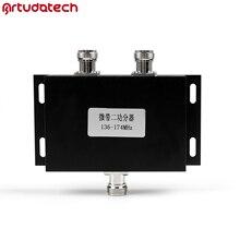 Artudatech 2 Way VHF 136-174MHz Antenna Two Way Radio Repeater Power Divider Splitter