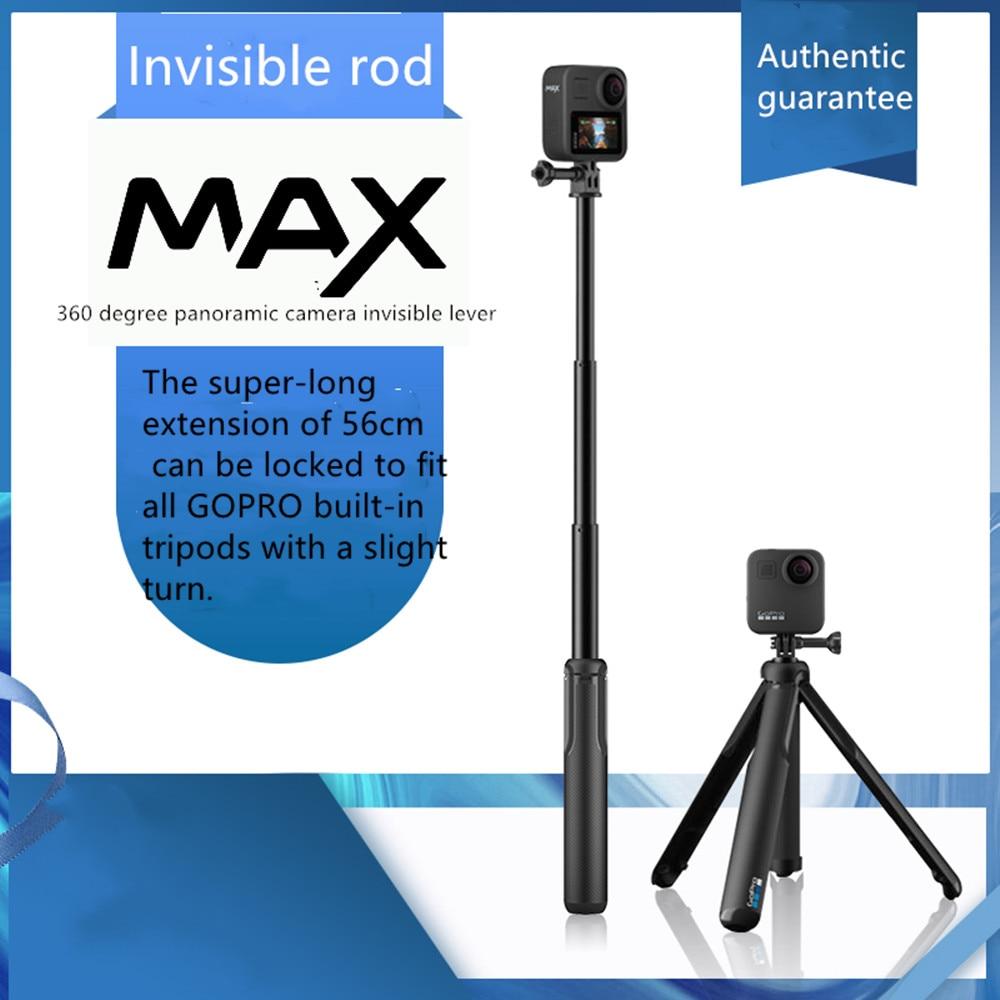 GoPro-ملحقات كاميرا الحركة البانورامية max360 ، قضيب انصهار غير مرئي أصلي ، حامل ثلاثي محمول ، مؤقت ذاتي
