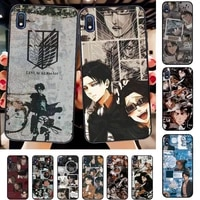 toplbpcs attack on titan levi ackerman phone case for samsung a30s 51 71 10 70 20 40 20s 31 10s a7 a8 2018