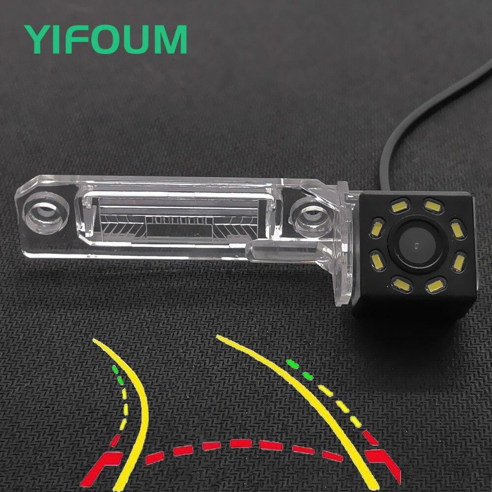 Cámara YIFOUM con pista de trayectoria dinámica, vista trasera de coche para Volkswagen Golf, Magotan, Polo, Bora Passat CC Touran, Caddy, Multivan T5