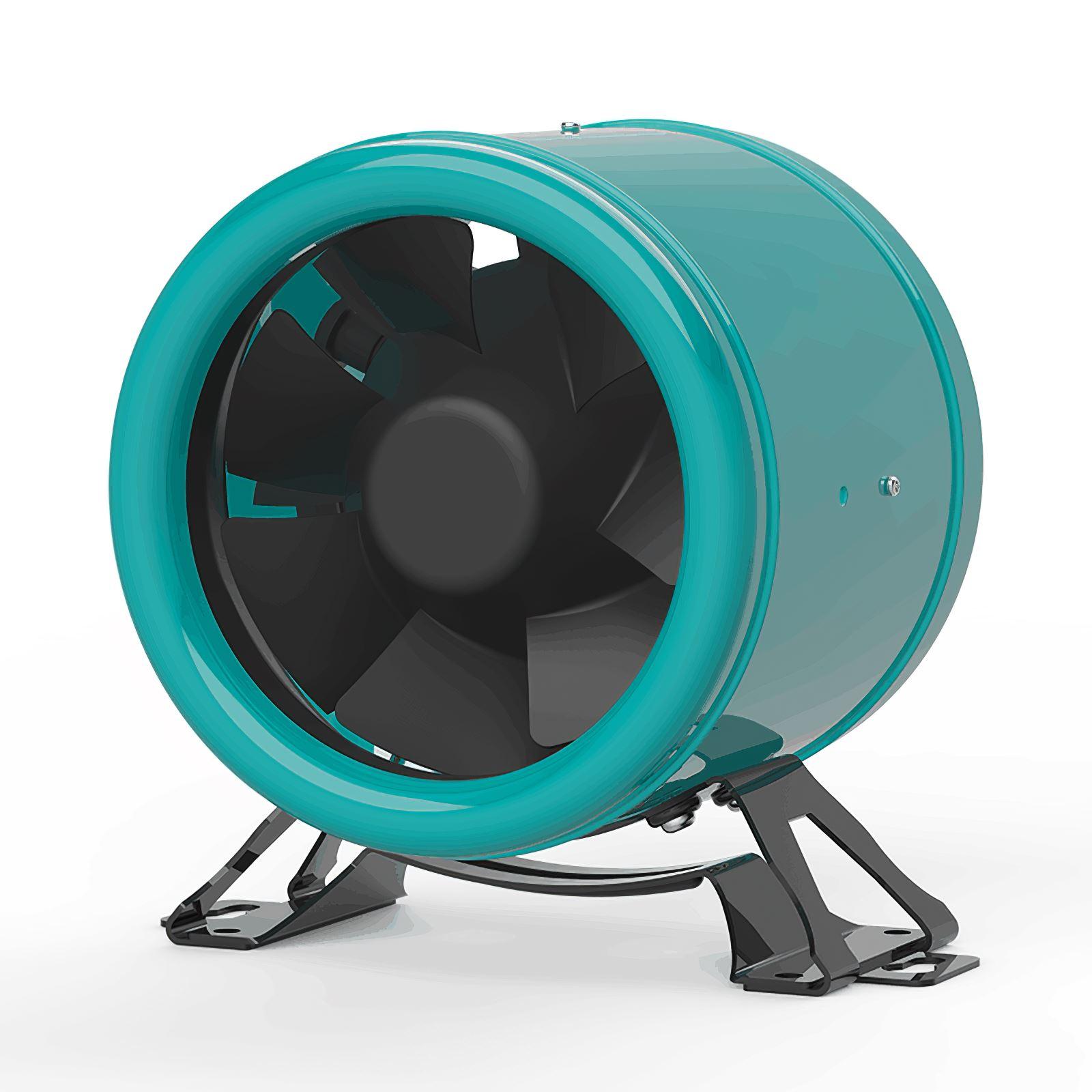 6 Inch Inline Duct Fan Exhaust Fan Adjustable Speed 5000rpm Garden Air Pipe Ventilation 220V-240V Digital Display Controller enlarge