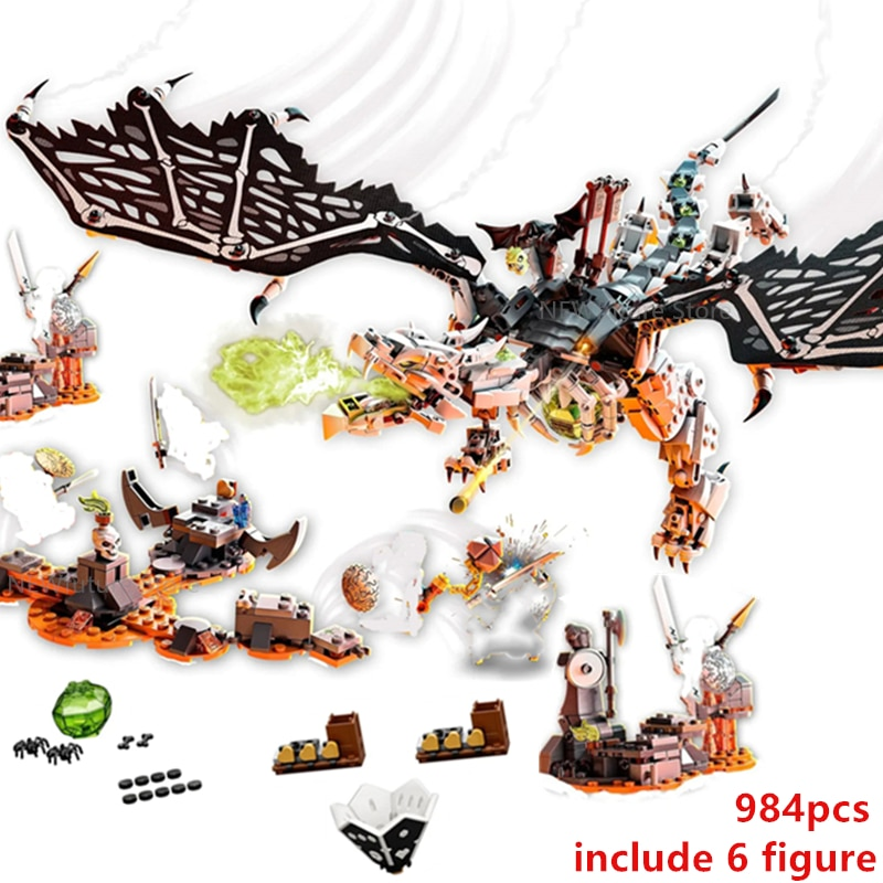 Novo 2020 ninjag série tv crânio feiticeiro dragão temporada 12 13 voar bola blocos de construção clássico modelo define tijolos kits criança