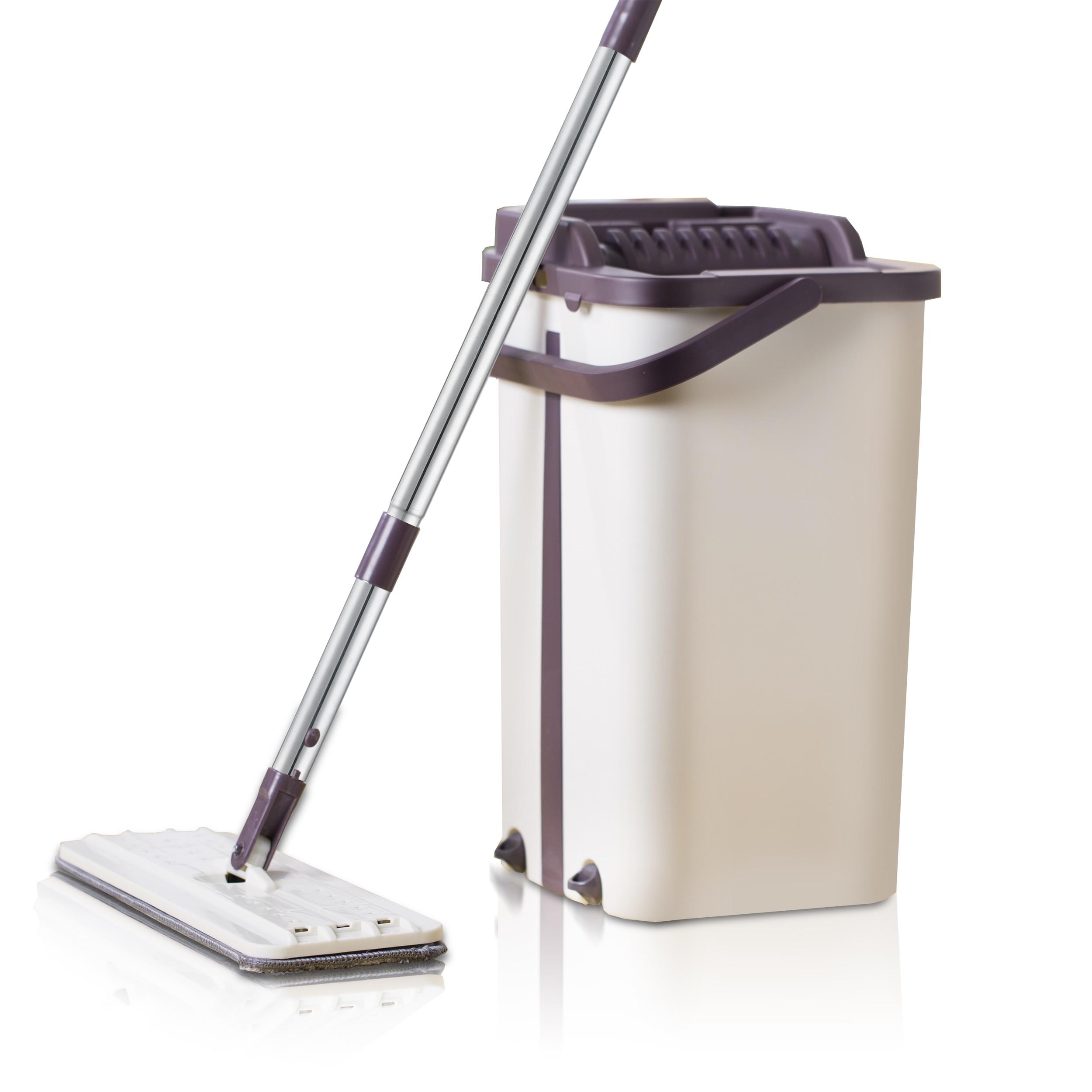 Fregona SDARISB Magic Cleaning Mops Free Hand Spin Mop con cubo de fibra de tela suelos Squeeze Spray fregona plana hogar cocina limpiador de piso