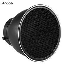 Andoer – diffuseur de réflecteurs Standard de 7 pouces, abat-jour avec nid dabeille à 60 °, pour Flash de Studio Bowens Speedlite
