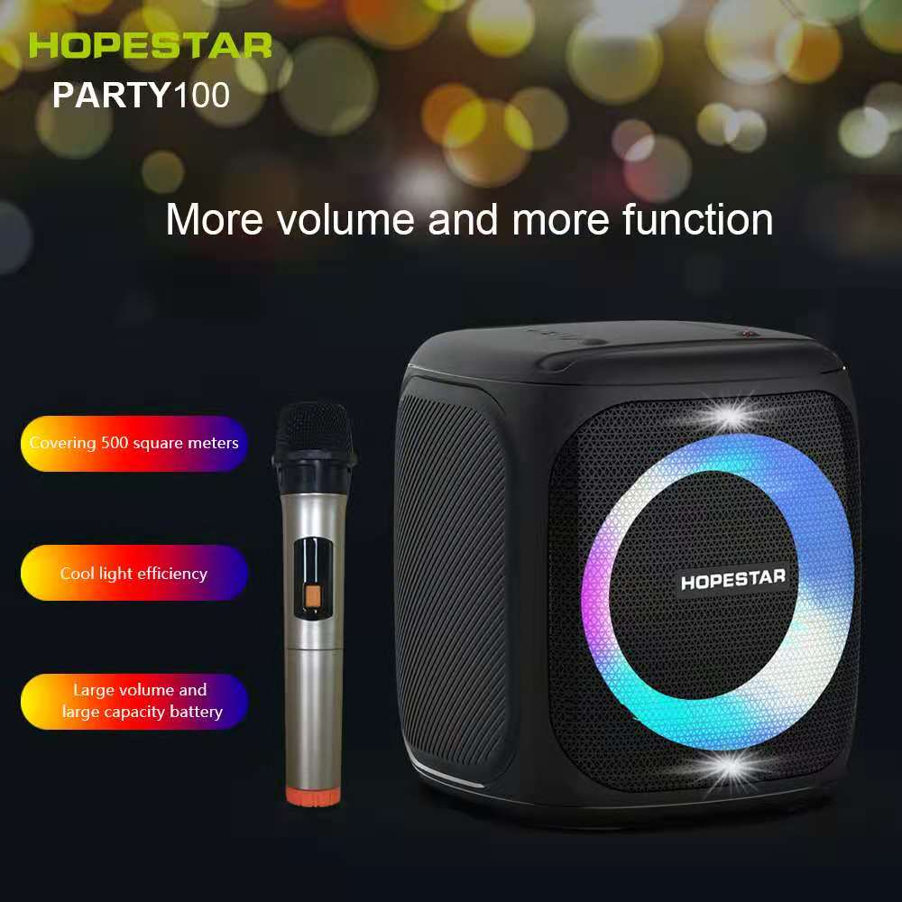 Promo 50W high power multifunctional portable outdoor K song wireless bluetooth speaker pole music center 10000mAh battery/AUX/TF card