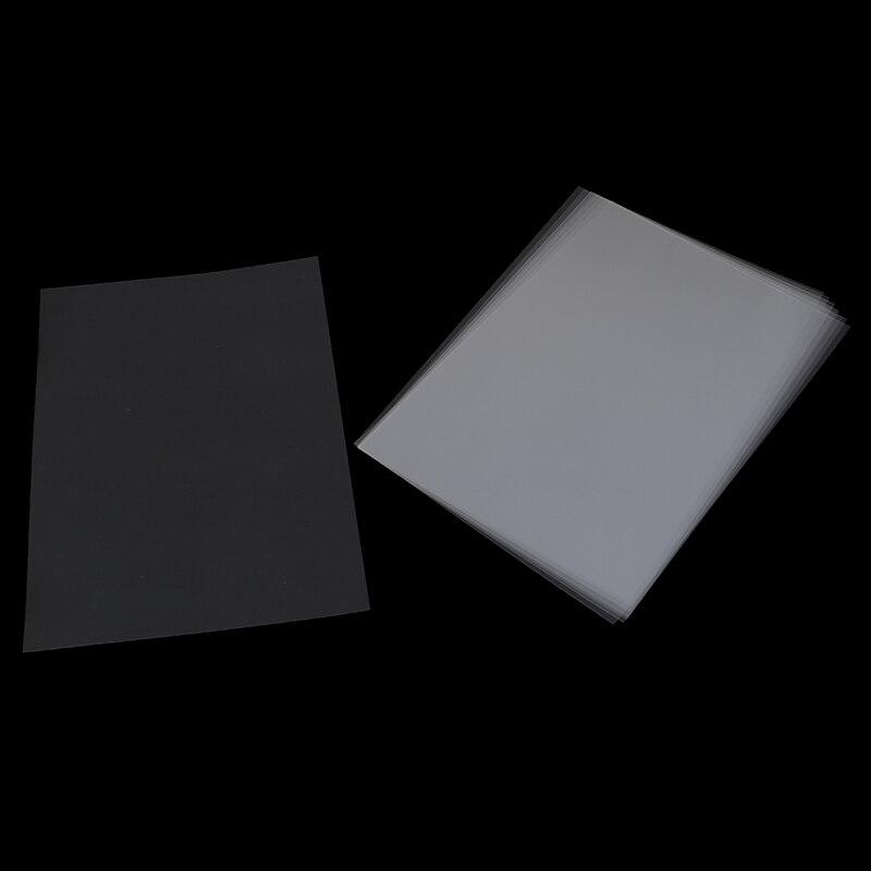 10 Uds. De plantillas de papel fotográfico de impresión láser de inyección de tinta A4, película de poliéster de alta resistencia